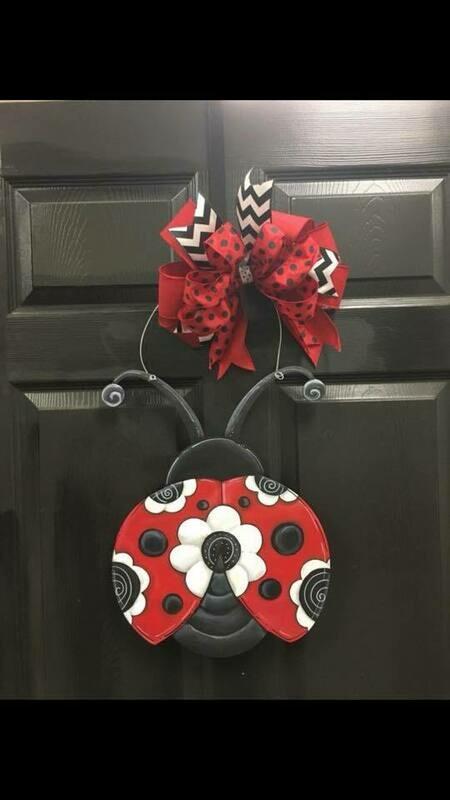 DIY Ladybug Door Hanger Cutout