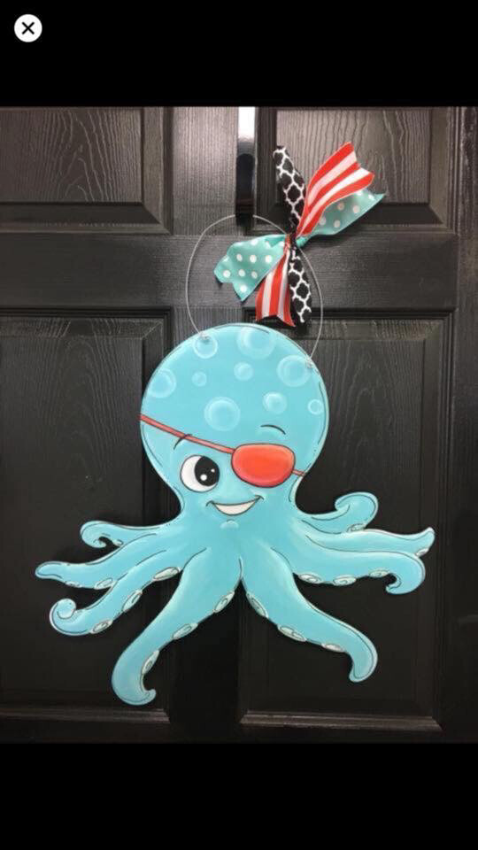 DIY Octopus Door Hanger Cutout