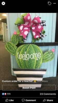 DIY Cactus Door Hanger Cutout