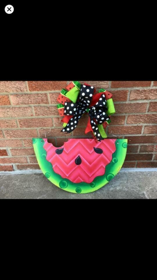 DIY Watermelon Door Hanger Cutout