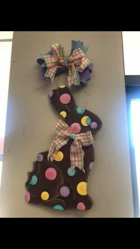 DIY Chocolate Bunny Door Hanger Cutout