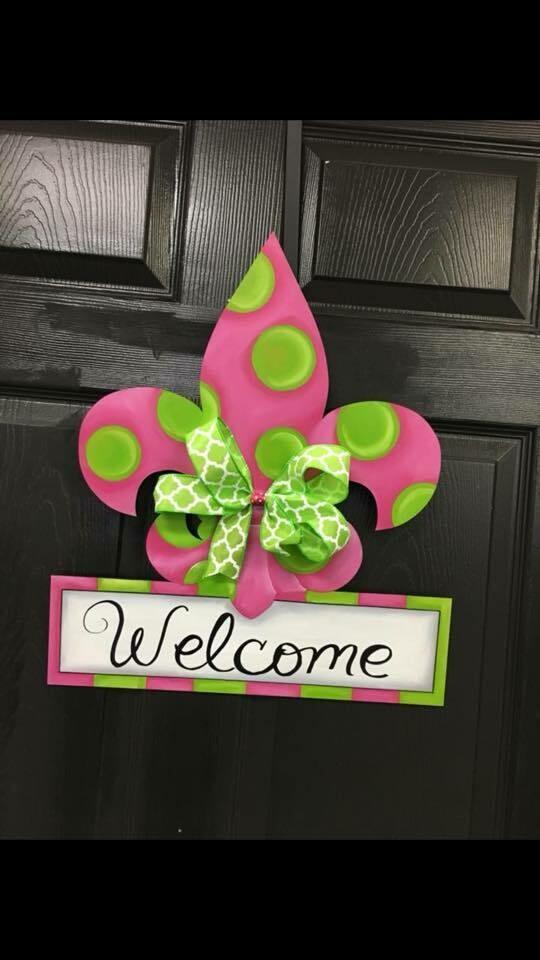 DIY FDL Welcome Door Hanger Cutout