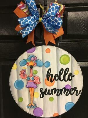 DIY Hello Summer Door Hanger Cutout