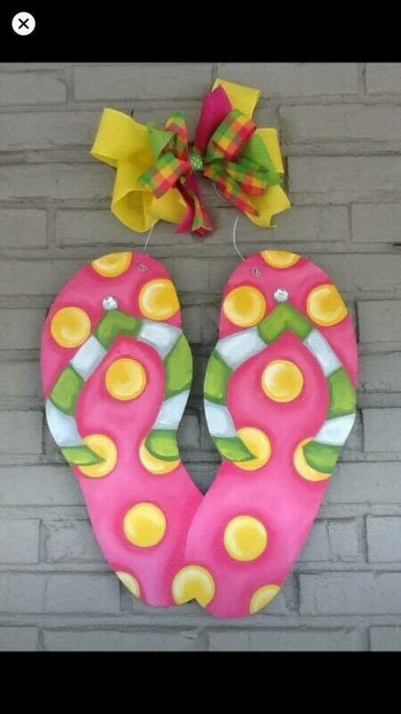 DIY Flip Flop Door Hanger Cutout