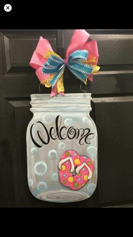 DIY Mason Jar w/ attachment Door Hanger Cutout