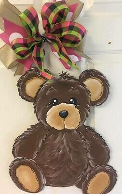 DIY Teddy Bear Door Hanger Cutout