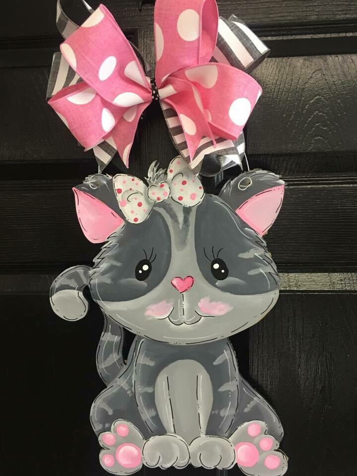 DIY Cat Door Hanger Cutout