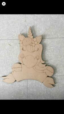 DIY Unicorn Door Hanger Cutout
