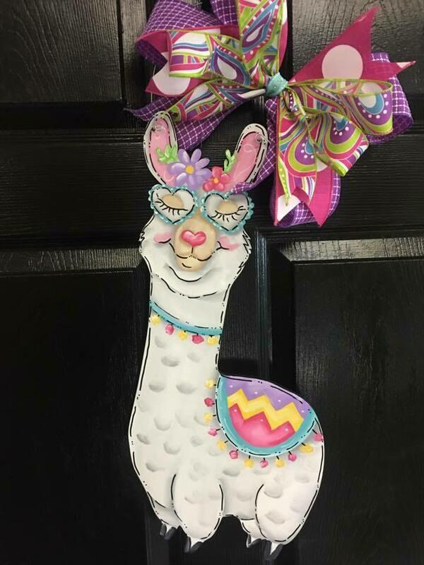 Llama Door Hanger