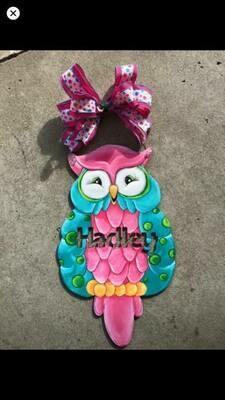 DIY Owl Door Hanger Cutout (NAME NOT INCLUDED)