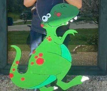 DIY Dinosaur Door Hanger Cutout (NAME NOT INCLUDED)