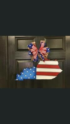 DIY 4th KY State Door Hanger Cutout