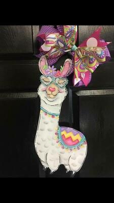 DIY Llama Door Hanger Cutout