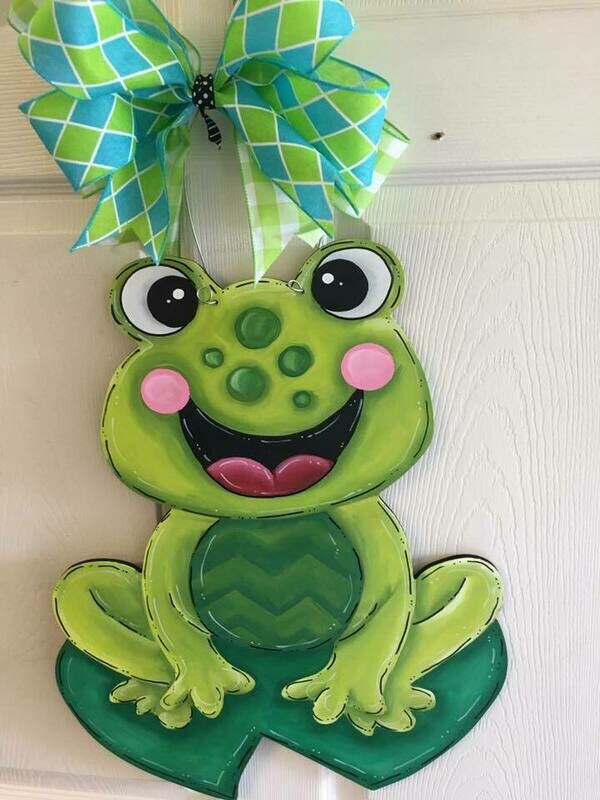 DIY Frog Door Hanger Cutout
