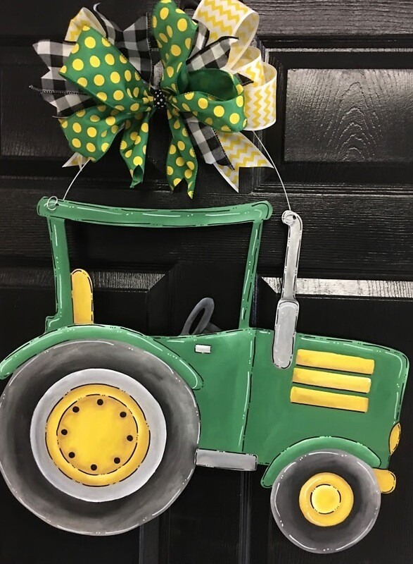 DIY Tractor Door Hanger Cutout
