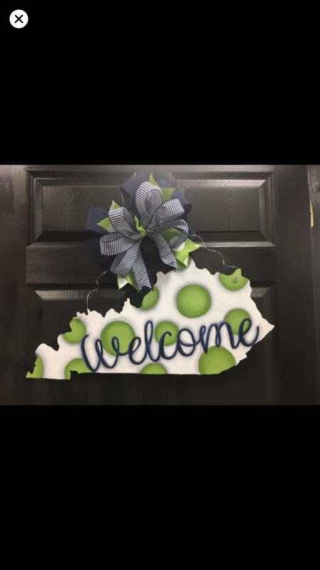 DIY KY State Door Hanger Cutout