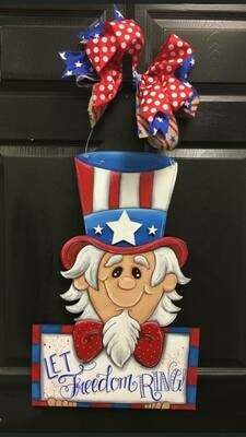 DIY 4th Uncle Sam Door Hanger Cutout