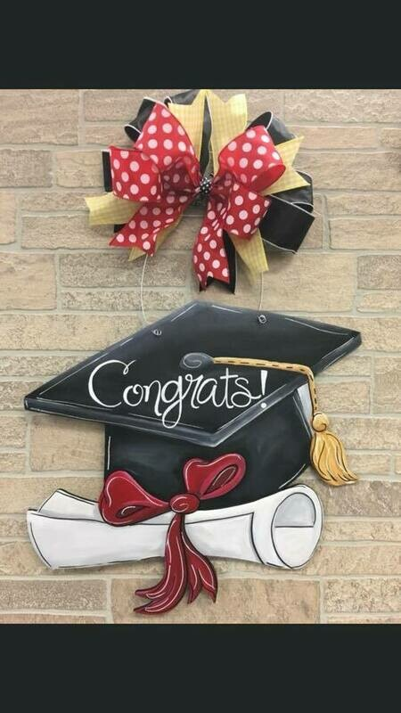 DIY Graduation Cap Door Hanger Cutout