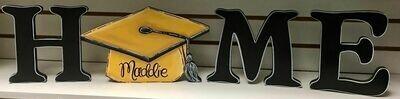 Graduation Cap Home Shelf Sitter