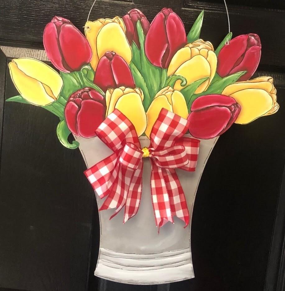 DIY Tulip Door Hanger Cutout
