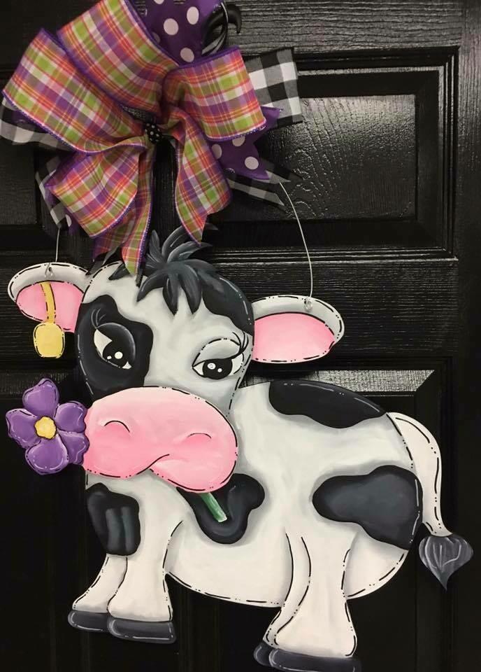 DIY Cow Door Hanger Cutout