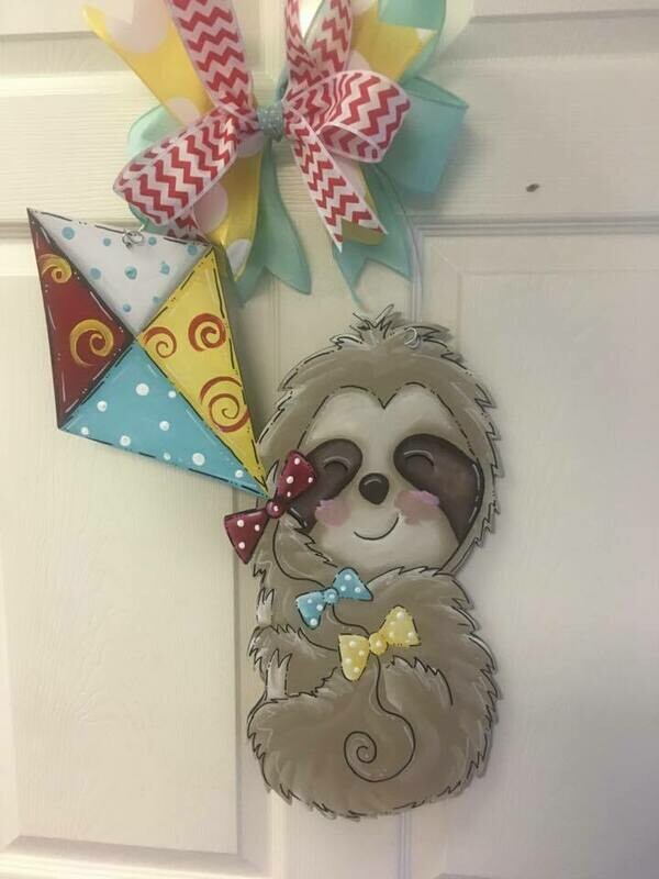 DIY Sloth Door Hanger Cutout