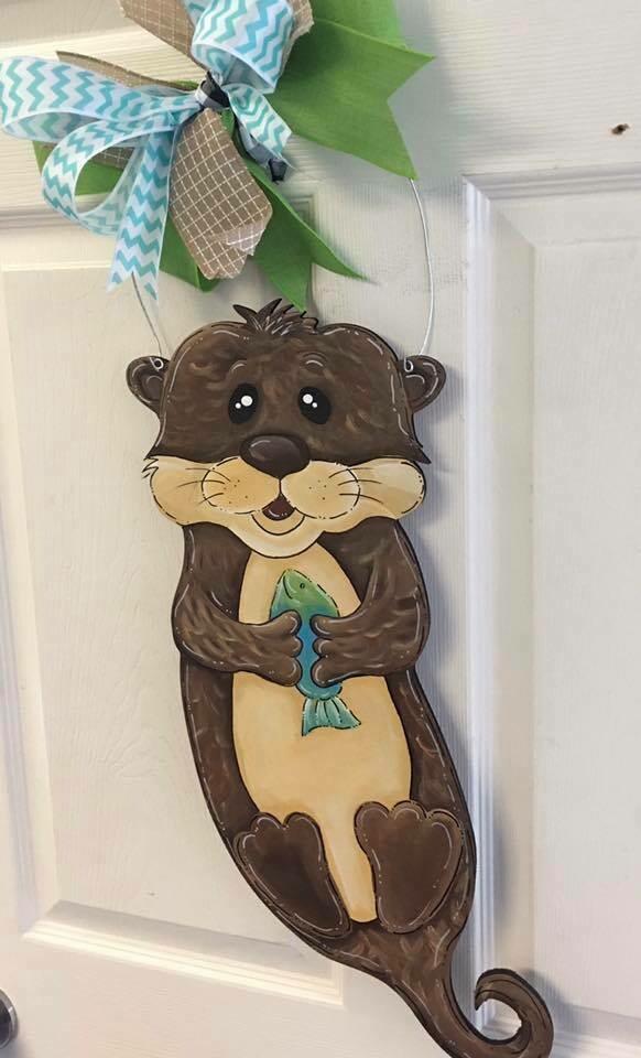 DIY Otter Door Hanger Cutout