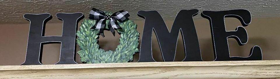 Wreath Home Shelf Sitter Set
