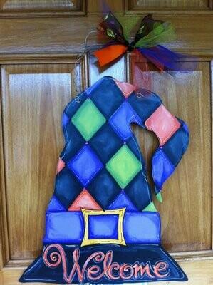 DIY Witch's Hat Door Hanger