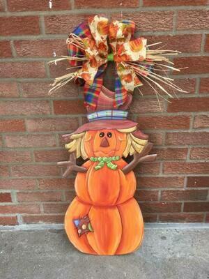 Pumpkin Scarecrow Door Hanger