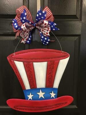 DIY Uncle Sam Hat Door Hanger