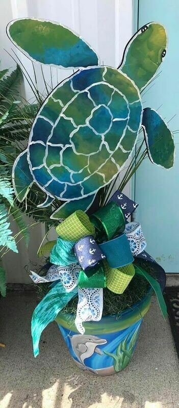 DIY Sea turtle Door Hanger