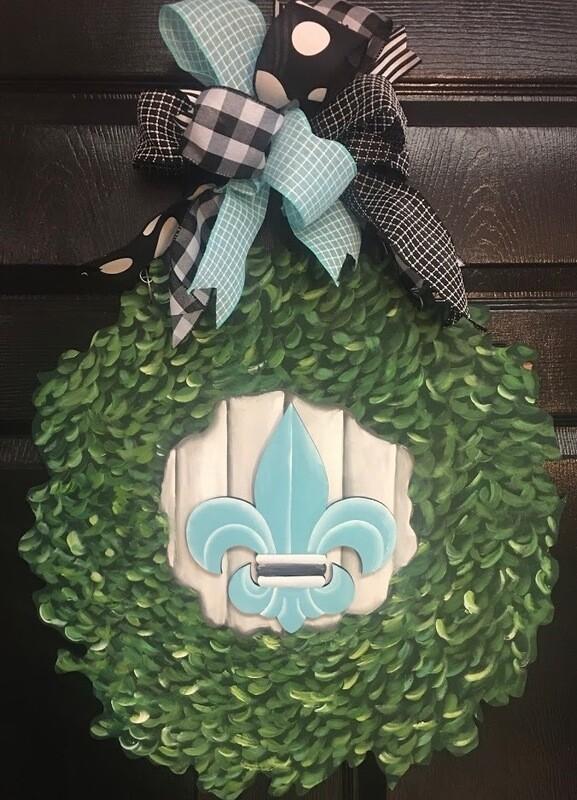 DIY Wreath ZOOM Painting Class