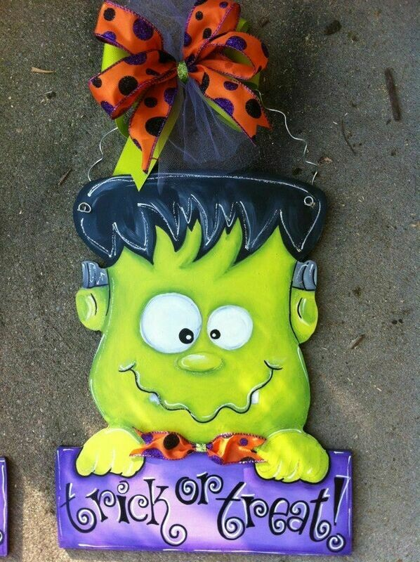 DIY Frankenstein Door Hanger Cutout