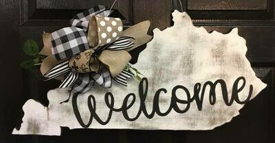"""Distressed KY State """"welcome"""""""