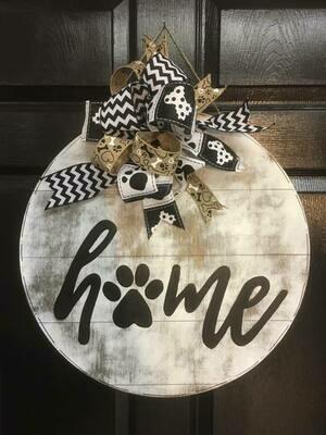 "HOME ""paw"" print Circle"