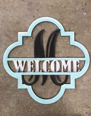 Quatrefoil Monogram-Welcome