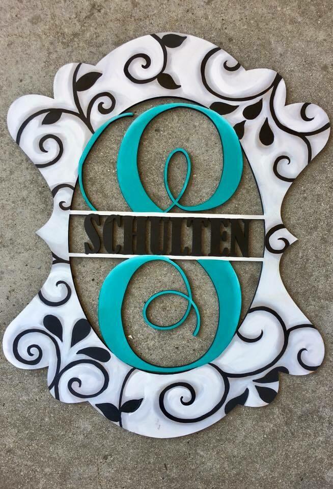 Scalloped Wedding Monogram