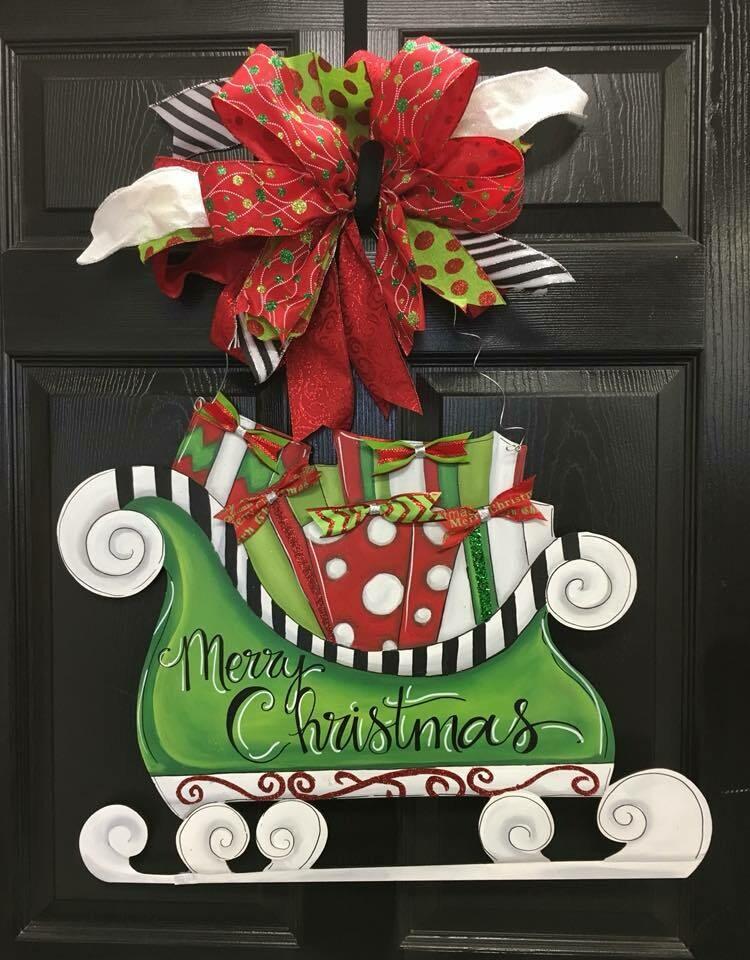 Santa's Sleigh Door Hanger