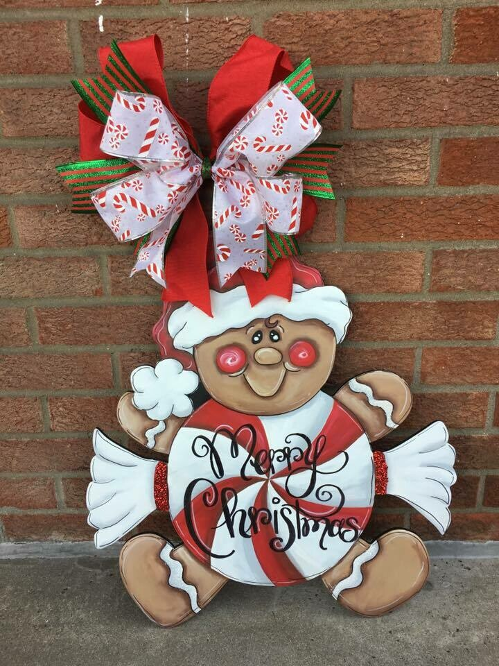 DIY Gingerbread Candy Man Door Hanger
