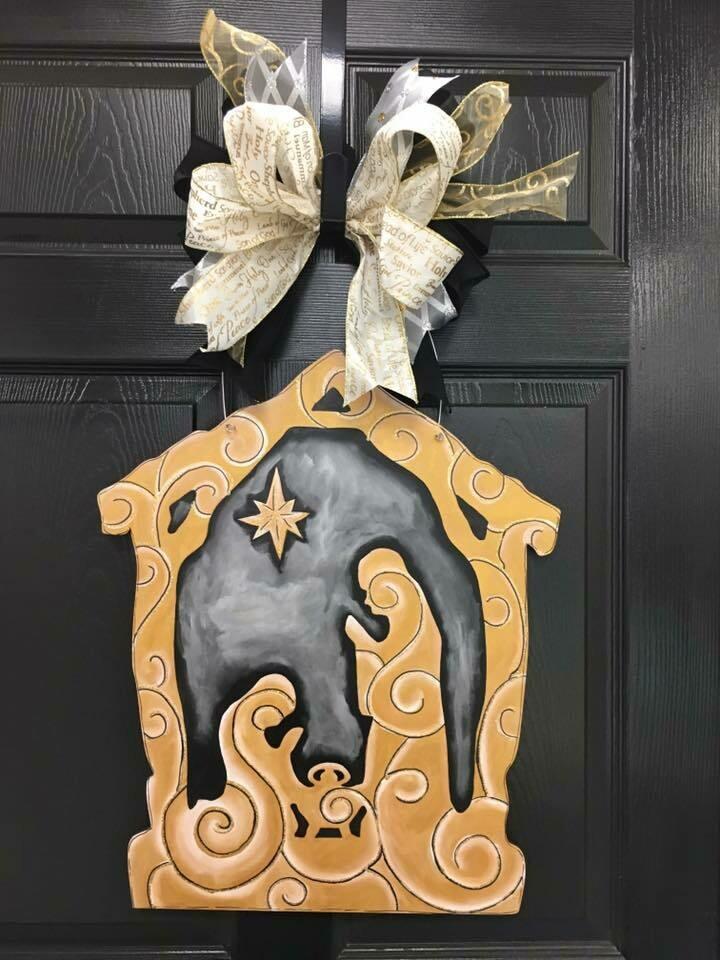 DIY Nativity Door Hanger