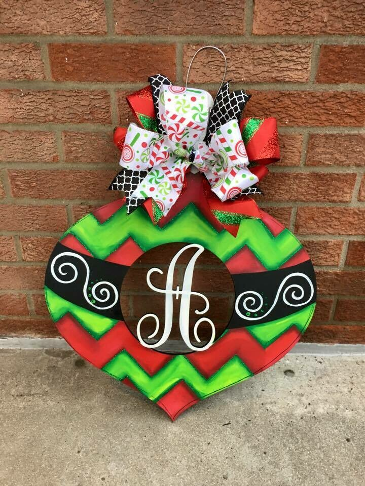 Ornament Door Hanger-Monogram