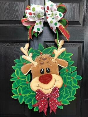 DIY Reindeer in a Wreath