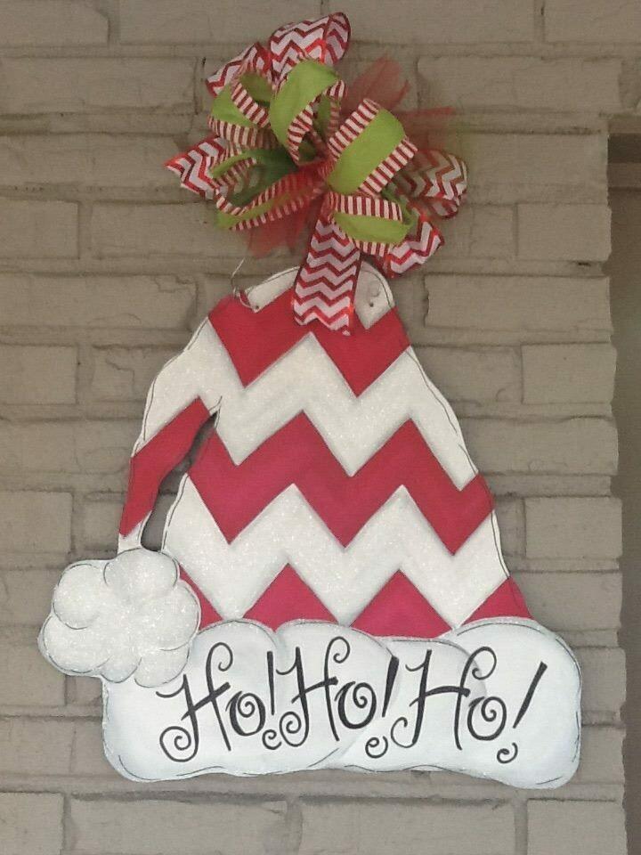 Santa Hat Doorhanger