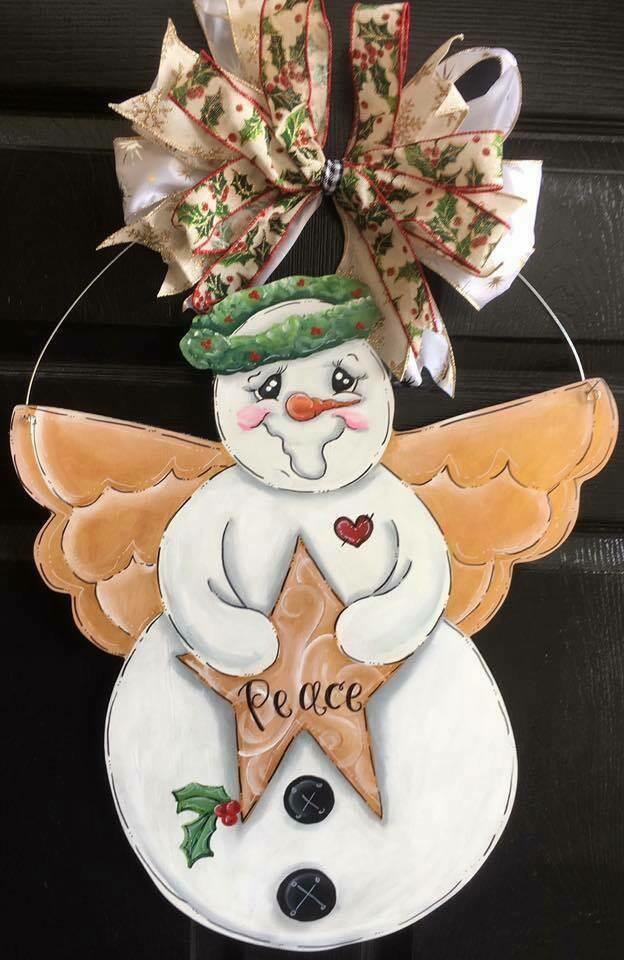 Snow Angel Door Hanger