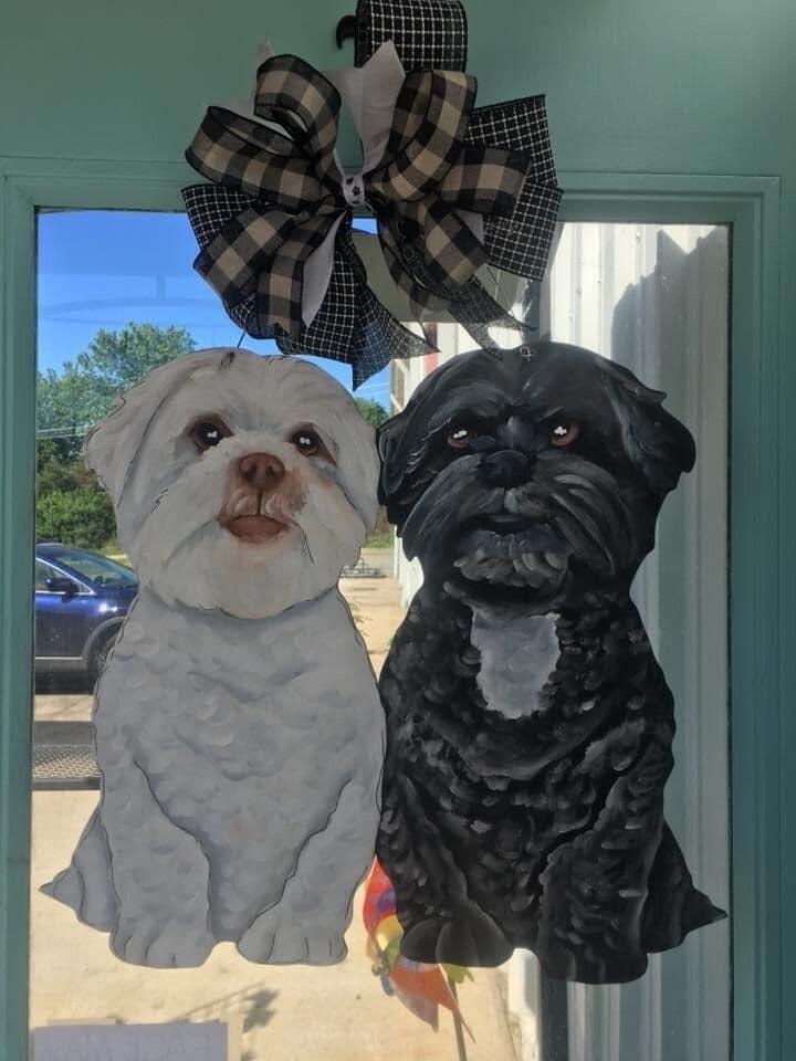 Double Dog Door Hanger