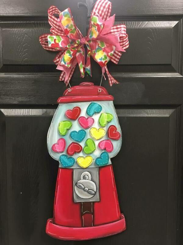 DIY Gumball Machine Valentines Door Hangers