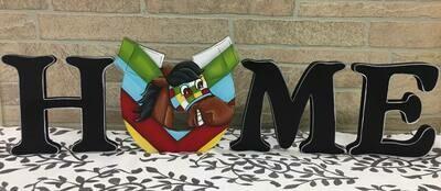 "Goofy Horse ""HOME"" shelf sitter set"