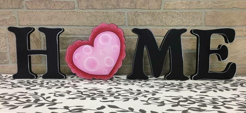 Valentines Heart Home Shelf Sitter Insert Only