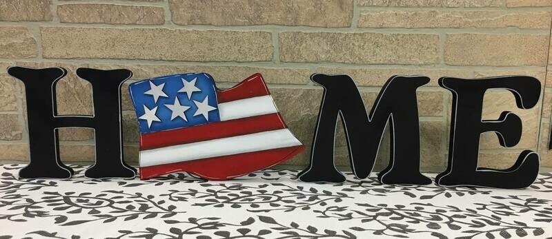 4th of July Flag Home Shelf Sitter Insert Only